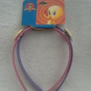 Vintage Looney tunes 2 head bands set